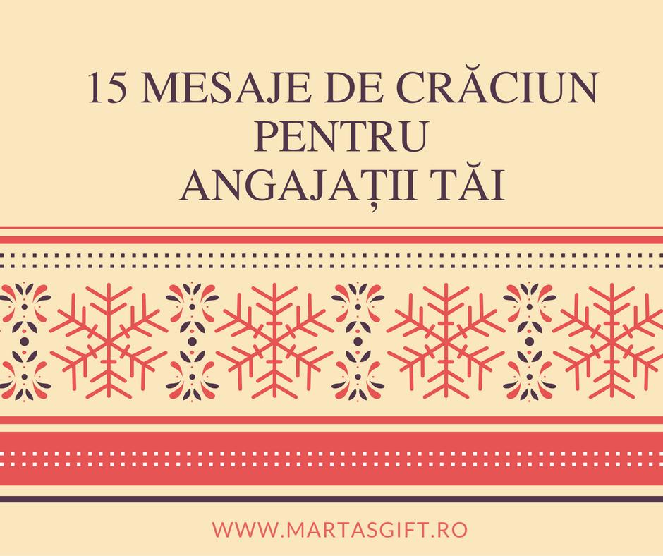 Mesaje de Crăciun pentru angajați